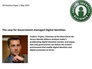 May 2013 - Paper - The case for Government-managed Digital Identities